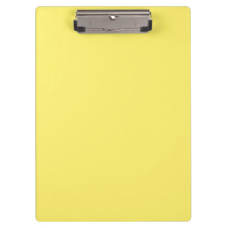 """Light Yellow"" Clipboard"