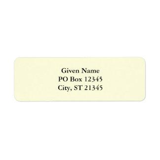 Light Yellow Return Address Label