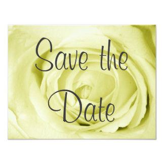 Light Yellow Save the Date Card