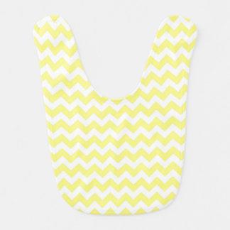 Light Yellow White Chevron Zig-Zag Pattern Bib