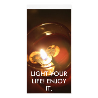 LIGHT YOUR LIFE ENJOY IT PHOTO CARD TEMPLATE