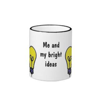 Lightbulb Bright Ideas Design Ringer Coffee Mug