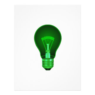 lightbulb glowing green power filament png full color flyer