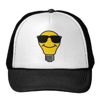 Lightbulb (high) template trucker hat