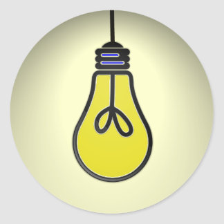 Lightbulb Idea Design Classic Round Sticker