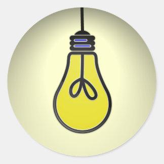 Lightbulb Idea Design Round Sticker
