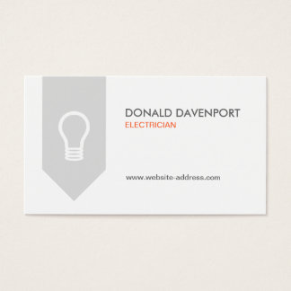 LIGHTBULB LOGO for ELECTRICIAN Business Card
