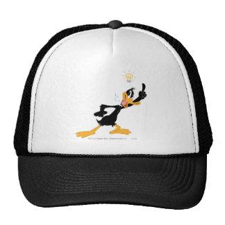 Lightbulb over Daffy Duck's Head Hat