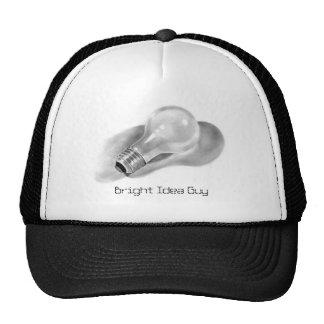 LIGHTBULB: PENCIL ART: CAP: Bright Idea Guy Cap