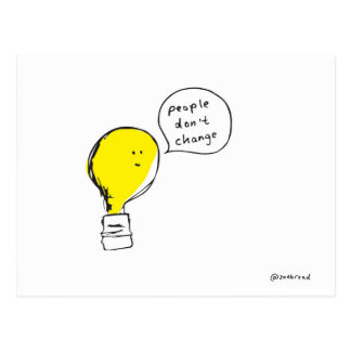 lightbulb postcard