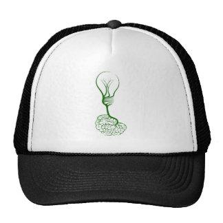 Lightbulb tree with brain roots cap