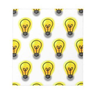 Lightbulbs Notepad