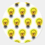 Lightbulbs Round Sticker