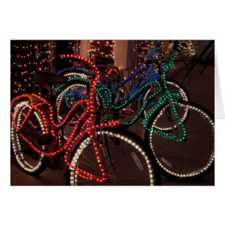 Lighted Bikes Greeting Card