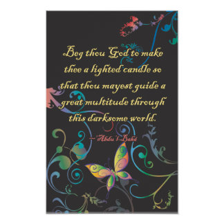 Lighted Candle Print