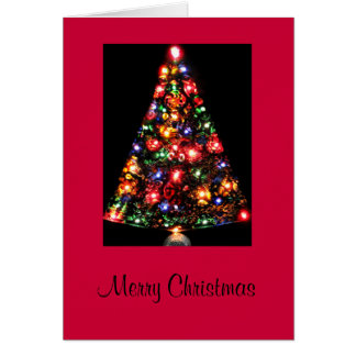 Lighted Christmas Tree Greeting Card