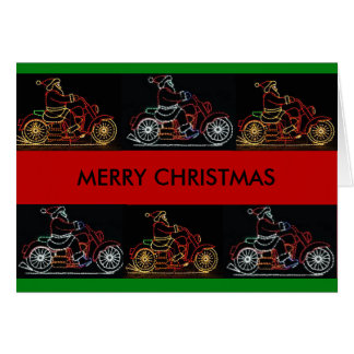 Lighted Motorcycles Christmas card