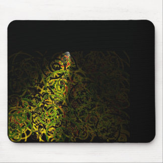Lighted Swirls Mouse Pad