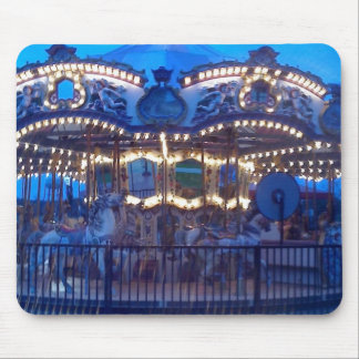 """""""LIGHTED VINTAGE CAROUSEL"""" MOUSE PAD"""