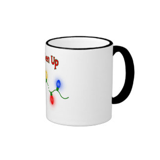 Lighten Up Funny Christmas Mug