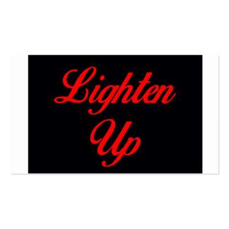 Lighten Up Pack Of Standard Business Cards