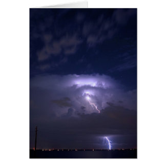 Lightening Stationery Note Card