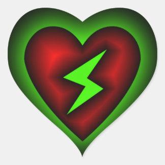 Lightening Strikes My Heart Sticker