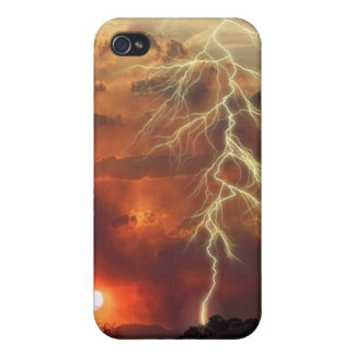 Lightening Sunset iPhone 4/4S Cover