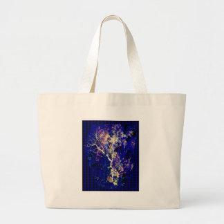 Lightening Thunderbolt TREE Sparkle Elegant Design Canvas Bags