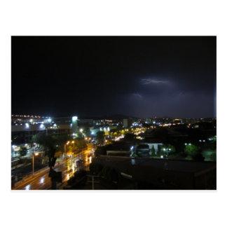Lightening / Thunderstorm over Thessaloniki Postcard