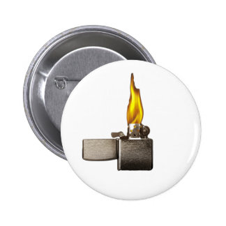 lighter 6 cm round badge