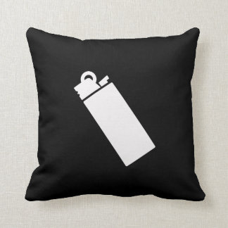 Lighter Pictogram Throw Pillow Cushions