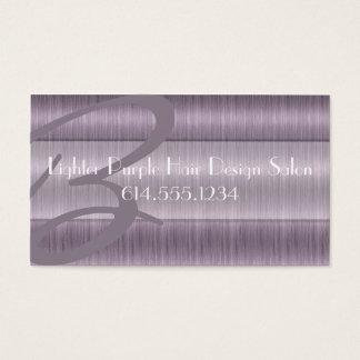 Lighter Purple Hair Salon Beautician Business Card
