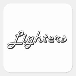 Lighters Classic Retro Design Square Sticker