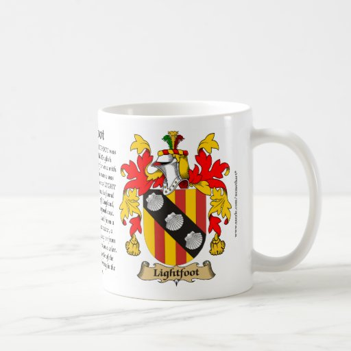 Lightfoot, the Origin, the Meaning and the Crest Coffee Mug