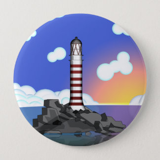 lighthouse 10 cm round badge
