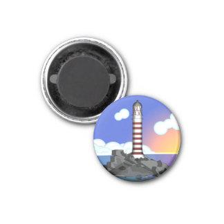 lighthouse 3 cm round magnet