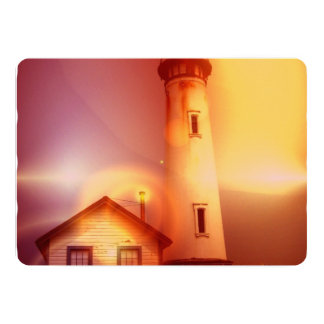 "lighthouse-51 5"" x 7"" invitation card"