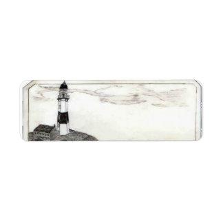 Lighthouse Address Label, Small