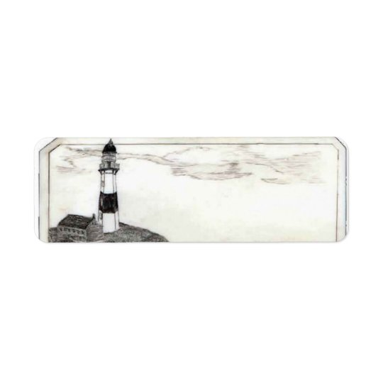 Lighthouse Address Label, Small