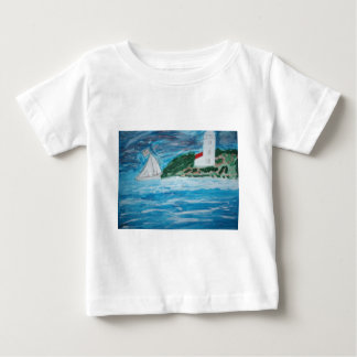 Lighthouse and Boat Baby Tee Shirt