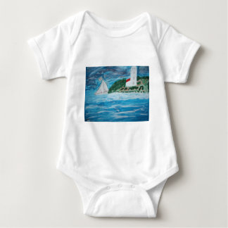 Lighthouse and Boat Baby Vest Baby Bodysuit