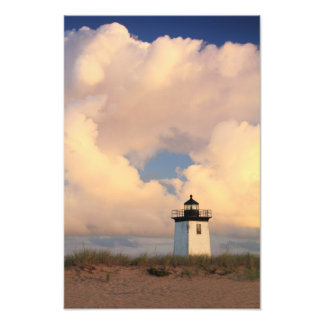 Lighthouse and Clouds, Long Point, Provincetown MA Photographic Print