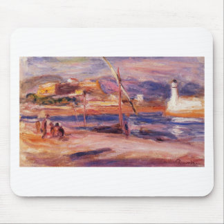 Lighthouse and Fort Carre Antibes by Pierre-August Mouse Pad