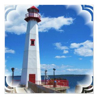 "Lighthouse Art Invitations 5.25"" Square Invitation Card"