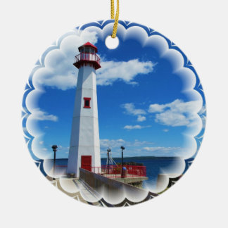 Lighthouse Art Ornament