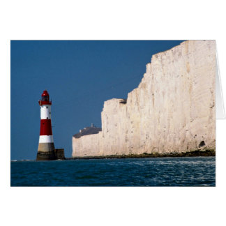 Lighthouse at Beachy Head, Eastbourne, East Sussex Card
