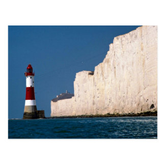 Lighthouse at Beachy Head, Eastbourne, East Sussex Postcard