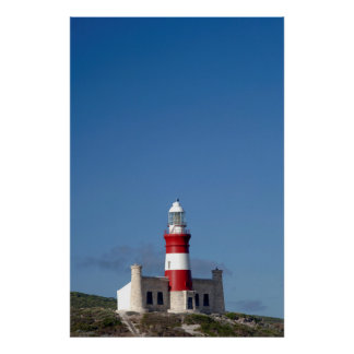 Lighthouse At Cape Agulhas, Western Cape Poster