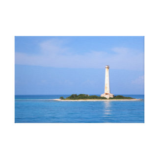 Lighthouse at Cay Lobos, Old Bahamas Channel Gallery Wrapped Canvas